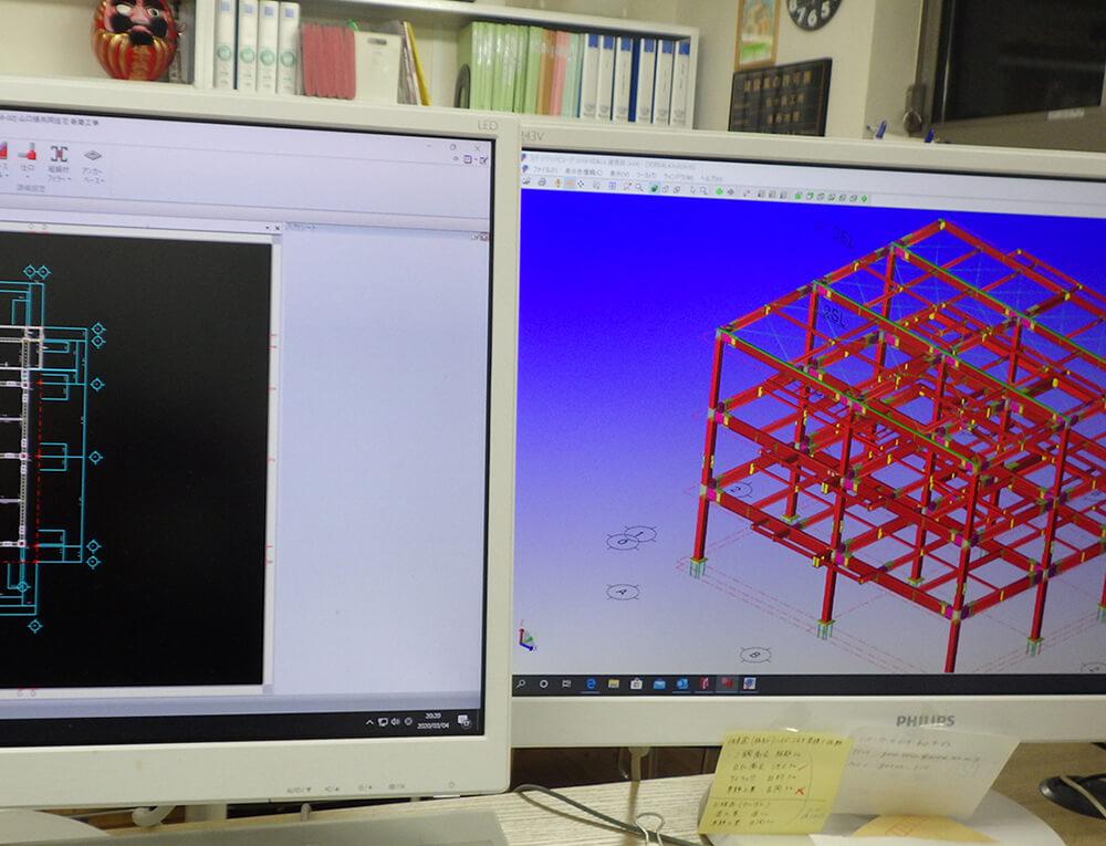 伍十鉄工所 CAD・専用CADによる施工図作成